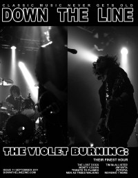 Cover of Down The Line, Sep 2011 #11, featuring The Violet Burning