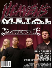 Cover of Heaven's Metal, Oct / Nov 2005 #60, featuring Immortal Souls