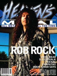 Cover of Heaven's Metal, Jun / Jul 2005 #58, featuring Rob Rock