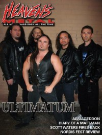 Cover of Heaven's Metal, Feb / Mar 2008 #73, featuring Ultimatum