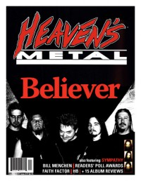 Cover of Heaven's Metal, Feb / Mar 2009 #79, featuring Believer