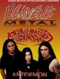 Cover of Heaven's Metal, Apr / May 2010 #84, featuring Antidemon