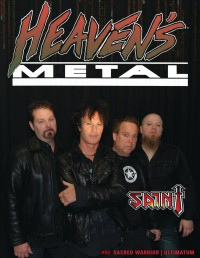 Cover of Heaven's Metal, Oct 2012 #93, featuring Saint