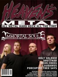 Cover of Heaven's Metal, Oct / Nov 2005 #60, featuring Immortal Souls