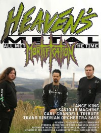Cover of Heaven's Metal, Feb / Mar 2006 #62, featuring Mortification