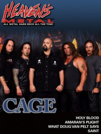 Cover of Heaven's Metal, Apr / May 2008 #74, featuring Cage