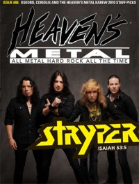 Cover of Heaven's Metal, Jul / Aug 2011 #88, featuring Stryper