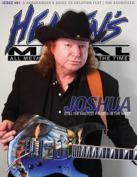 Cover of Heaven's Metal, Aug 2012 #91, featuring Joshua Perahia