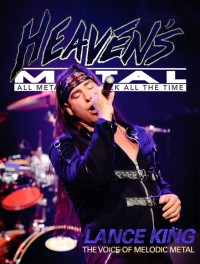 Cover of Heaven's Metal, 2012 #90, featuring Lance King