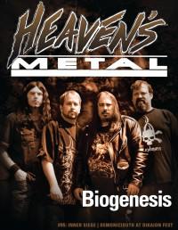 Cover of Heaven's Metal, Jan 2013 #95, featuring Biogenesis