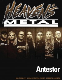 Cover of Heaven's Metal, Feb 2013 #96, featuring Antestor