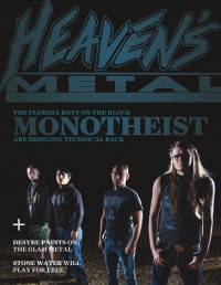 Cover of Heaven's Metal, Jun 2013 #100, featuring Monotheist