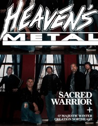 Cover of Heaven's Metal, Aug 2013 #102, featuring Sacred Warrior