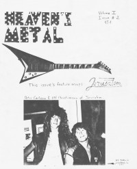 Cover of Heaven's Metal, Sep 1985 v. 1, i. 2, featuring Jerusalem