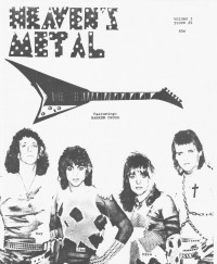 Cover of Heaven's Metal, Jan 1986 v. 1, i. 4, featuring Barren Cross