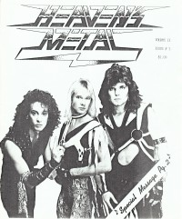 Cover of Heaven's Metal, 1986 v. 2, i. 3, featuring Bloodgood