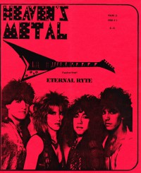 Cover of Heaven's Metal, 1986 v. 2, i. 2, featuring Eternal Ryte