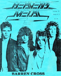 Cover for 1987, featuring Barren Cross