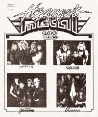 Cover of Heaven's Metal, 1987 v. 3, i. 1, featuring Swedish Metal