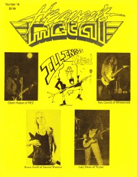 Cover of Heaven's Metal, Jun / Jul 1988 #18, featuring Illinois Noise