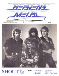 Cover of Heaven's Metal, Aug / Sep 1988 #19, featuring Shout