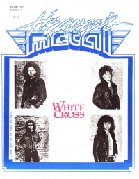 Cover of Heaven's Metal, 1988 v. 3, i. 3, featuring Whitecross
