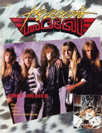 Cover of Heaven's Metal, Apr / May 1990 #24, featuring Holy Soldier