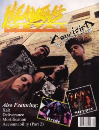 Cover of Heaven's Metal, Nov / Dec 1991 #32, featuring The Crucified