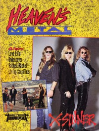 Cover of Heaven's Metal, Sep / Oct 1991 #31, featuring X-Sinner