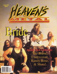 Cover of Heaven's Metal, Nov / Dec 1992 #38, featuring Bride