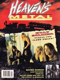 Cover of Heaven's Metal, Jan / Feb 1992 #33, featuring Holy Soldier