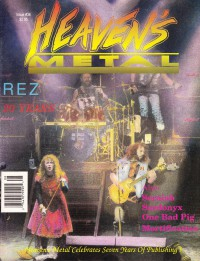 Cover of Heaven's Metal, Jul / Aug 1992 #36, featuring Resurrection Band