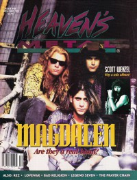 Cover of Heaven's Metal, Nov / Dec 1993 #44, featuring Magdalen