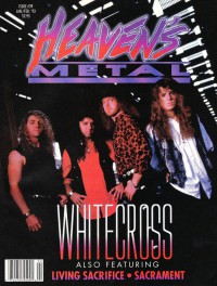 Cover of Heaven's Metal, Jan / Feb 1993 #39, featuring Whitecross