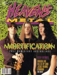 Cover of Heaven's Metal, May / Jun 1993 #41, featuring Mortification
