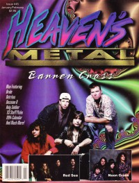 Cover of Heaven's Metal, Jan / Feb 1994 #45, featuring Barren Cross