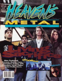 Cover of Heaven's Metal, May / Jun 1994 #47, featuring Living Sacrifice