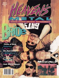 Cover of Heaven's Metal, Jul / Aug 1994 #48, featuring Bride