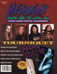 Cover of Heaven's Metal, Sep / Oct 1994 #49, featuring Tourniquet