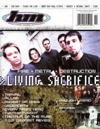 Cover of HM, Nov / Dec 2000 #86, featuring Living Sacrifice