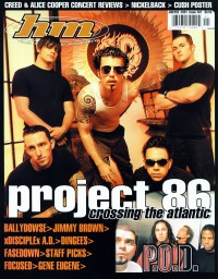 Cover of HM, Jan / Feb 2001 #87, featuring Project 86