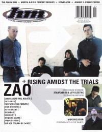 Cover of HM, Mar / Apr 2001 #88, featuring Zao