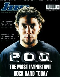 Cover of HM, Sep / Oct 2001 #91, featuring P.O.D.