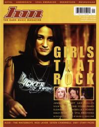 Cover for January 2002, featuring Women of Christian Rock (Jennifer Knapp)