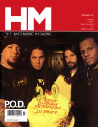Cover of HM, Jul / Aug 2005 #114, featuring P.O.D. & 20th Anniversary