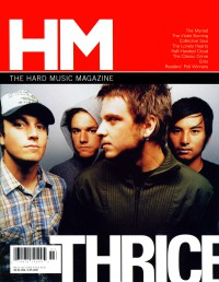 Cover of HM, Mar / Apr 2006 #118, featuring Thrice