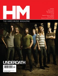 Cover of HM, Sep / Oct 2008 #133, featuring Underoath