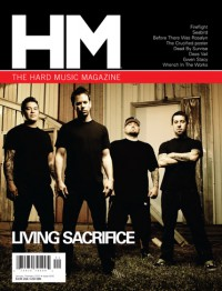 Cover of HM, Jan / Feb 2010 #141, featuring Living Sacrifice