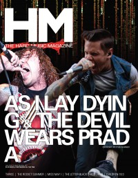 Cover of HM, Jul 2012 #157, featuring As I Lay Dying, The Devil Wears Prada