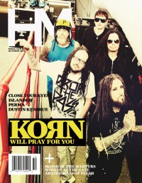 Cover of HM, Oct 2013 #171, featuring Korn